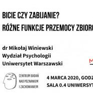 Wykład otwarty dr Mikołaja Winiewskiego