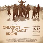 Zaproszenia na spektakl Chłopcy z Placu Broni (godz. 18:00)