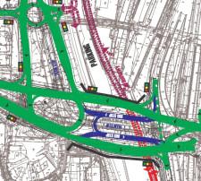 """""""Ideowa koncepcja funkcjonowania zewnętrznego układu komunikacyjnego"""" - układ dróg i przebieg komunikacji zbiorowej  w formacie PDF ."""