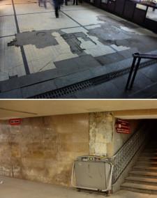 ...choć miasto od lat nie jest w stanie zadbać o należyty stan techniczny i estetykę istniejących podziemnych przejść dla pieszych. Nz. tunele przy Bramie Wyżynnej i dworcu głównym (część należąca do miasta).