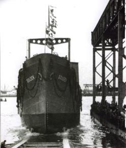 Wodowanie Sołdka 6 listopada 1948 roku.