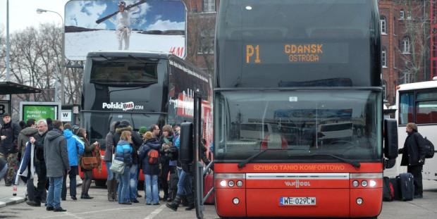 Dotychczas Polskim Busem z Gdańska było można dojechać tylko do Warszawy przez Ostródę.