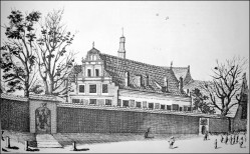 Tak wyglądał budynek sierocińca, który działał przy kościele św. Elżbiety.