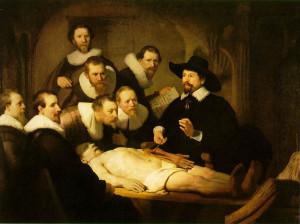 Lekcja anatomii doktora Tulpa (1632 r.)- słynny obraz Rembrandta van Rijn, pokazujący sekcję zwłok prezentowaną zainteresowanym mieszczanom amsterdamskim.