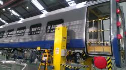 Wagon pasażerski - element składu z firmy Alstom dla PKP Intercity.