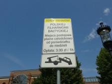 Za parking pod Filharmonią Bałtycką zapłacimy 3 zł za godzinę.