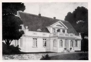 Dworek Saltzmanna w XIX wieku.