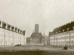 Neuer Markt zwany obecnie placem Wybickiego. Zdjęcie z ok. 1928 roku. Dziś w tym miejscu znajduje się Fontanna Grassa.