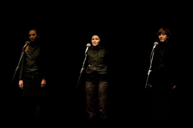 Trzy kobiety różnych narodowości, wywodzące się z różnych kultur, spotykają się przy okazji ataku terrorystycznego na Teatr na Dubrowce. Spektakl Adama Nalepy to minimum formy, maksimum treści.
