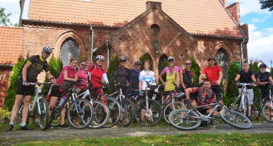 Migawki z wycieczki rowerowej szlakiem kościołów gotyckich na Żuławach Gdańskich