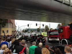 Służby ratownicze pojawiły się na miejscu kilka minut po zdarzeniu.