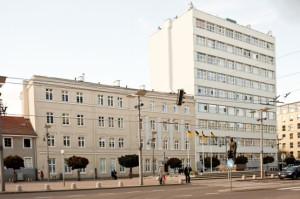 Szpital Św. Wincentego a Paulo w Gdyni od strony Placu Kaszubskiego.