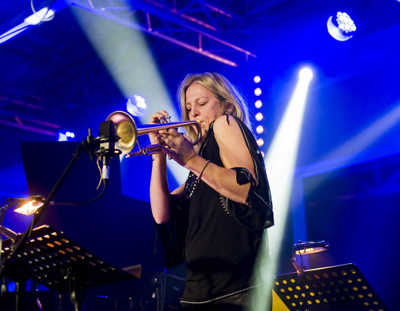 Ingrid Jensen w premierowym występie z Michał Tokaj Trio.