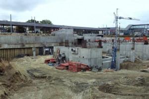 Plac budowy Galerii Metropolia i podziemnego zbiornika retencyjnego.