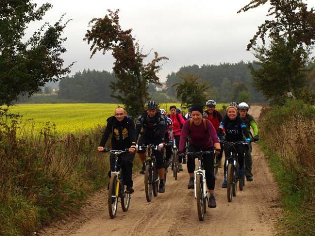 Migawki z wycieczki niebieskim szlakiem rowerowym z Lęborka do Gdańska