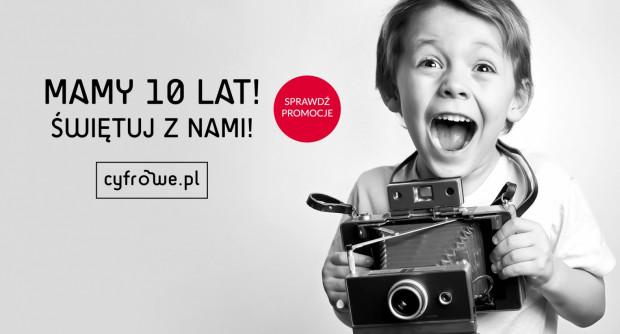 Z okazji 10 lat działalności sklep Cyfrowe.pl przechodzi metamorfozę wizualną. Dla klientów przygotowane są zniżki i promocje.