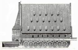 W Wielkim Młynie działało niegdyś 18 kół młyńskich, po dziewięć z każdej strony.