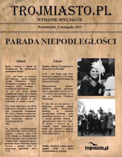 """Wydrukuj i weź ze sobą """"ściągawkę"""" na poniedziałkowe parady w Gdyni i Gdańsku,"""
