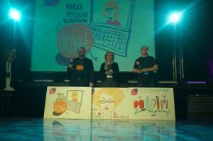 """Rozdano również nagrody """"Blog Forum Award 2013"""". Tytuł Społecznie Odpowiedzialnego Blogera otrzymał Maciej """"Mediafun"""" Budzich, Wpływowym Blogerem została Natalia Hatalska, a Marką Przyjazną Blogerom - Orange."""