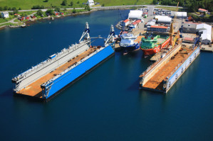 W skład Grupy Kleven wchodzą: Myklebust Verft AS, Kleven Verft AS, Kleven Maritime Finans i Kleven Maritime AS. Na zdjęciu stocznia Myklebust Verft.