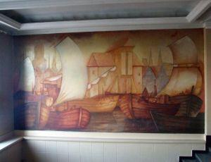 Malowidło na ścianie MDK - stan z zimy 2008 roku.