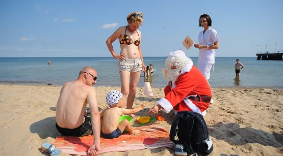 Św. Mikołaj ma przyciągnąć nad Bałtyk turystów poza sezonem letnim.