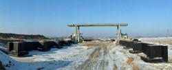 Na przystanku Banino ustawiono konstrukcję planowanej kładki.