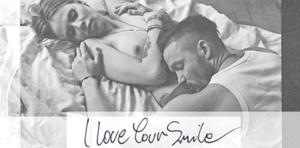 """Okładka singla """"I Love Your Smile"""" z roznegliżowaną Mają Sablewską."""