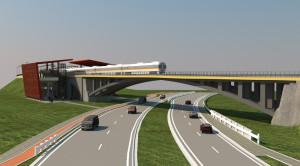 Wizualizacja wiaduktu nad ul. Słowackiego.