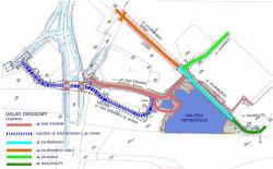 Wraz z powstaniem Galerii Metropolia wykonany zostanie nowy układ drogowy.