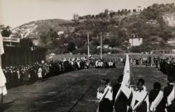 Tereny szkoły i najbliższa okolica na początku lat. 70. ubiegłego wieku.