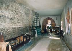 Remont dawnego chóru boromeuszek, który po wyjeździe sióstr z Gdańska pełnił funkcję kaplicy chorych.