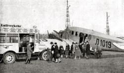 Przez gdańskie lotnisko przewijało się przed wojną ok. 1500 pasażerów rocznie.