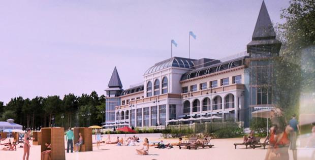 Odbudowana Hala Plażowa od strony plaży ma być wypełniona lokalami handlowo-usługowymi.