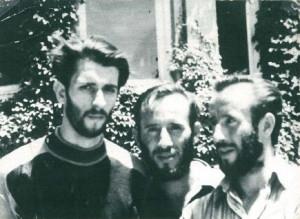 Bracia Ejsmont i Wojciech Dąbrowski przed wypłynięciem w ostatni rejs.