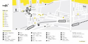 Mapa wszystkich murali Traffic Design.