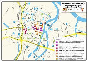 Zmiana organizacji ruchu i nowe parkingi utworzone na czas Jarmarku św. Dominika.