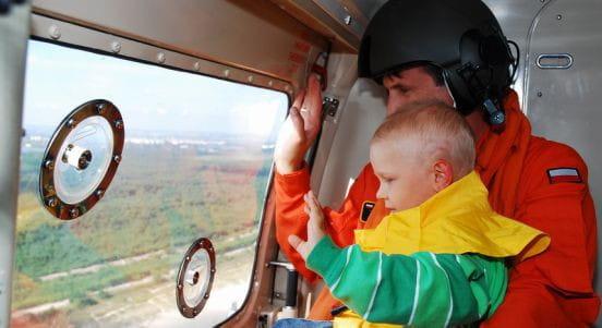 W poniedziałek spełniło się marzenie ciężko chorego Kacpra - lot wojskowym helikopterem.