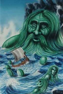 Kaszubski bóg morza Gosk ma wiele cech wspólnych z nordyckim Aegirem, kapryśnym bogiem raz dbającym o żeglarzy, innym razem wciągającym ich w odmęty.