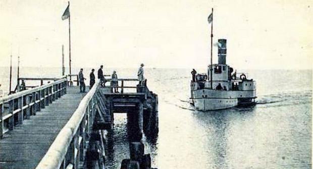 Tak wyglądało pierwsze molo w Orłowie, 80 lat temu.