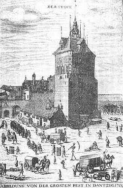 Zaraza w 1709 r. na wielokrotnie publikowanej rycinie Samuela Donneta.