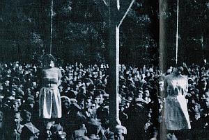 Gapie zgromadzili się nie tylko przy szubienicach, ale w całej dzielnicy. Egzekucję mogło oglądać nawet 200 tys. osób.