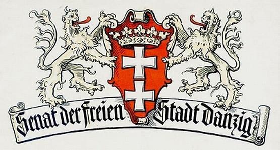 Strefa Historyczna to gratka dla miłośników historii Gdańska, szczególnie tego okresu, kiedy istniało Wolne Miasto Gdańsk. Na rys. godło senatu Wolnego Miasta.
