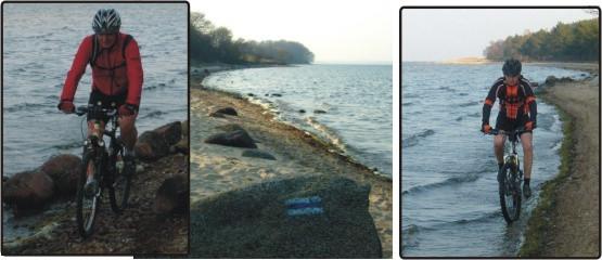 Przeprawa brzegiem Zatoki Puckiej nie należała do łatwych, ale i z nią sobie poradziliśmy.