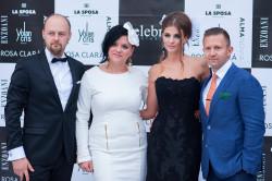 (Od lewej) Paweł Binert i Joanna Fularczyk - właściciele salonu Celebrity Bridal.