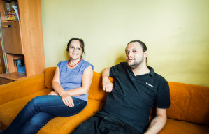 Mateusz i jego mama, Kamila.
