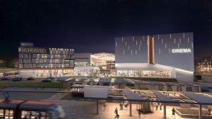 W Forum Radunia znajdzie się m.in. 9-salowe Multikino oraz parking na 1100 samochodów (po lewej stronie).