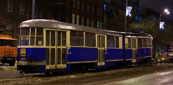 Wrocławski tramwaj przyjechał do Gdańska w nocy z czwartku na piątek.