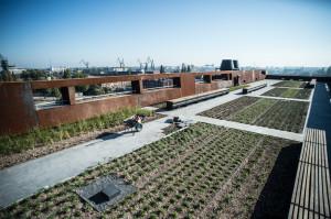 Na dachu budynku znajduje się taras, który zostanie udostępniony zwiedzającym na wiosnę.