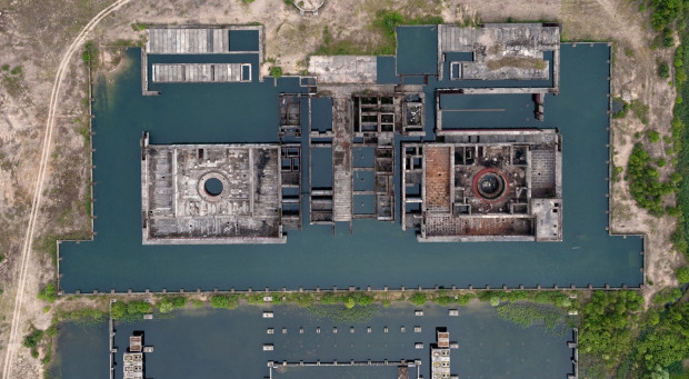 Ruiny elektrowni jądrowej w Żarnowcu.